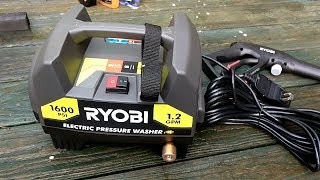 Ryobi 1,600-PSI 1.2-GPM Electric Pressure Washer Review and Unboxing