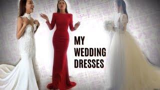 👑 My Wedding Dresses | 我婚礼当天穿的婚纱&礼服&睡袍 分享