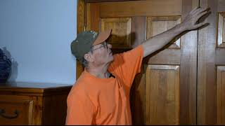 Adjusting a closet door that doesn't close properly