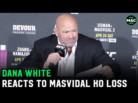 Dana White reacts to Kamaru Usman knockout of Jorge Masvidal; confirms Nick Diaz return