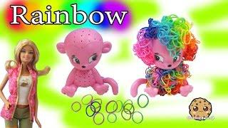 CraZLoom Cra Z Art 3D Rubber Rainbow Monkey Band Loom Hair Craft Kit - Cookieswirlc Video