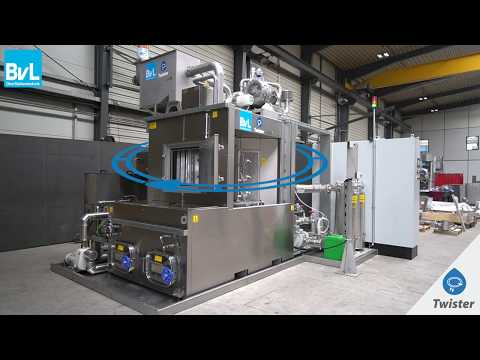 Cleaning with the rotary indexing system - Twister by BvL