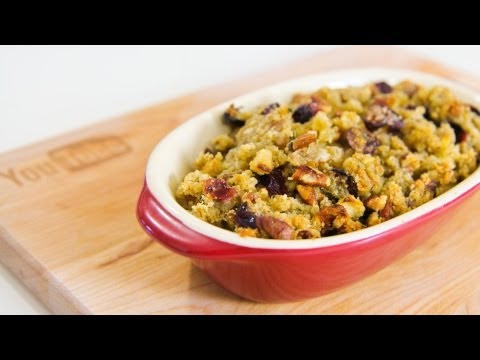 Cranberry  Apple and Pecan Turkey Stuffing – Video Recipe