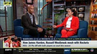 ESPN GET UP | Richaed Jefferson DEBATE: How James Harden, Russell Westbrook mesh with Rockets?