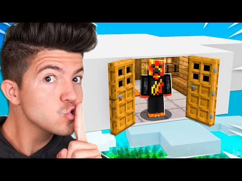 Sneaking into 7 SECRET Houses in Minecraft! *most secure*