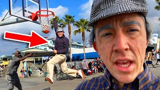 GRANDPA SLAM DUNKS ON TRASH TALKING HOOPERS! *ankles broken*