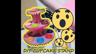 How To Make Cupcake Stand DIY Low COST + Recycled Materials