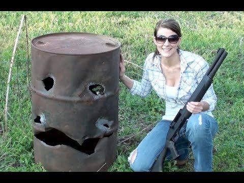 Khi con gái bắn shotgun
