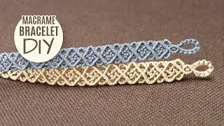 Unisex Squares Bracelet Tutorial by Macrame School