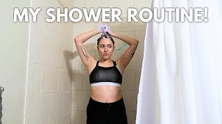 MY SHOWER ROUTINE (APARTMENT VS CAR LIFE) | Katie Carney
