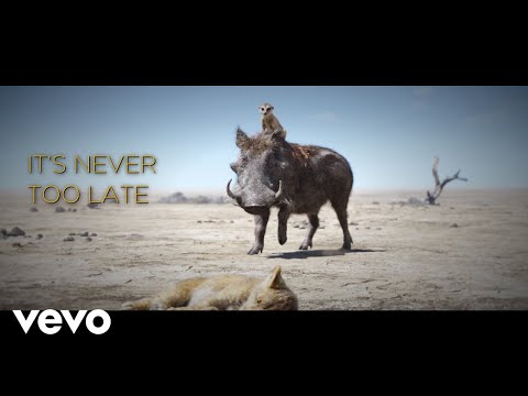 """Elton John - Never Too Late (From """"The Lion King""""/Official Lyric Video)"""