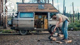 This Budget Micro Cabin in the Woods Van Conversion will make you Swoon