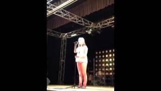 Tatum Deems wins Bagley Middle School talent show.
