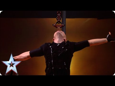 Alex Magala is back with added danger | Semi-Final 2 | Britain's Got Talent 2016 (видео)
