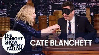 Cate Blanchett Gives Jimmy a Blind Burger Taste Test - dooclip.me
