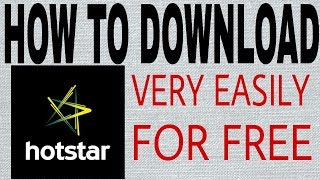 How To Download Hotstar And Use Any Country For Free-Full Tutorial