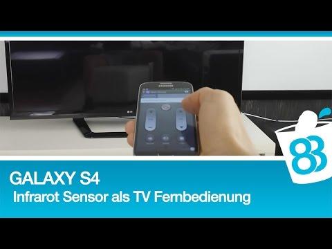 Galaxy S4 mit Infrarot Sensor als TV Fernbedienung