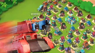 Boom Beach NEW HQ 21 SPEED BUILD!! Anti Scorcher Base! (Level 63 Speed Build)