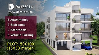 6 Apartments With 2 Bedrooms House Tour On 50X100 Plot Uganda - DPRO.design