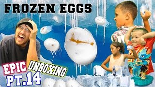 FROZEN EGG FIGHT!  Kids vs. Parents!  Epic Unboxing pt. 14 (Punk Shock - Skylanders Swap Force)