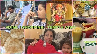 #DIML SATURDAY NOON TO EVENING | SHOPPING | TEMPLE VISIT | MADHUSHIKA VLOGS