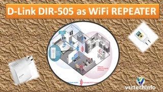Configure Dlink DIR 505 as Repeater | How to setup D-Link DIR-505 as Repeater | Dlink WiFi Repeater