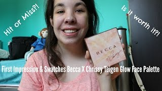 NEW First Impression & Swatches Becca X Chrissy Teigen Glow Face Palette