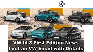 VW Id.3 News - I got a VW email with new details