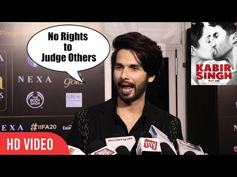 Shahid Kapoor Blasts Critics and HATERS of Kabir Singh Criticism | #IIFA20