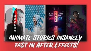 Templates for IGTV & Instagram Stories | After Effects Tutorial
