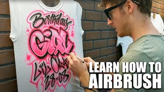 Learn How To Airbrush T Shirts | Intro To My Channel