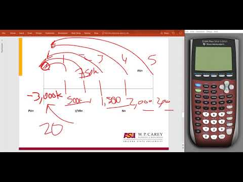 Solving for NPV using the TI-83 and 84 Plus calculator