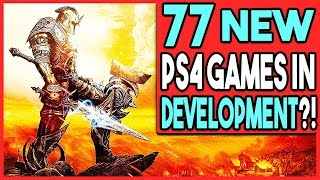 77 NEW PS4 GAMES IN DEVELOPMENT FROM ONE PUBLISHER?!