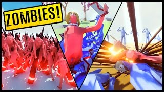Zombie Horde vs Dark Peasant, Hillary, M16 & More! - Totally Accurate Battle Simulator Gameplay TABS