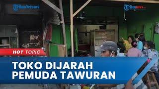 Toko Sembako di Medan Dijarah Puluhan Pemuda saat Tawuran, Pemilik Ketakutan dan Sembunyi di Kamar