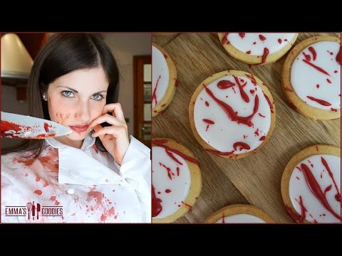 Halloween Blood Splatter Cookies