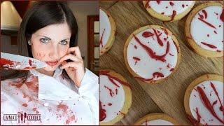 Halloween Blood Splatter Cookies