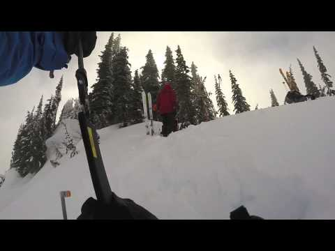 Paradise skiing and snow pit 2-10-15