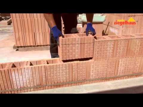 Schallschutzwände aus Planfüllziegel mit Dryfix Planziegel-Kleber verarbeitet