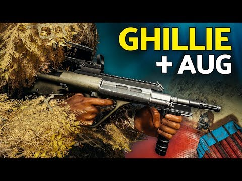 PUBG | Some Guy Stood on Me... (Ghillie + AUG Gameplay)