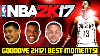 GOODBYE NBA 2K17! MYTEAM YEAR IN REVIEW BEST MOMENTS!