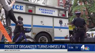 New York City Protest Organizer Turns Himself In To Police | NBC New York