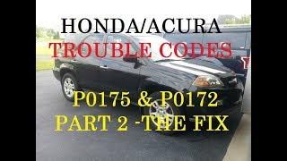 Acura Running Rich Repair *PART 2* Trouble codes P0175 P0172 -Honda/Acura