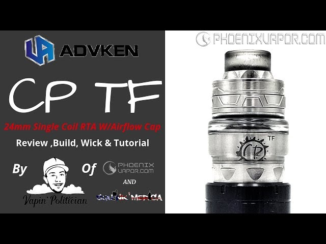 Advken CP TF RTA - Competes with the Gear and Juggerknot Mini!? Vape Acronym Paralysis ?