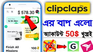 clipclaps app | make money | Earn 10 Dollar Per 1 Hour || Online Income app | New PayPal Earning app