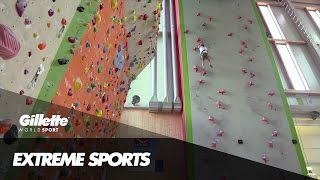 Speed Climbing with World Champion Danyil Boldyrev | Gillette World Sport