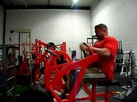 one arm machine row