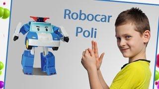 Spielzeuge für Kinder - Transformers Robocar Poli, Roy, Amber und Helly. Polizeiauto, Feuerwehr