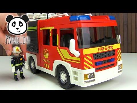 ⭕ PLAYMOBIL Feuerwehr - Löschgruppenfahrzeug Licht und Sound - Spielzeug ausgepackt & angespielt