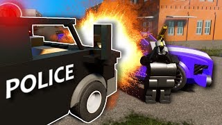 EXPLOSIVE POLICE CHASE! - Brick Rigs Multiplayer Gameplay - Lego Cops and Robbers